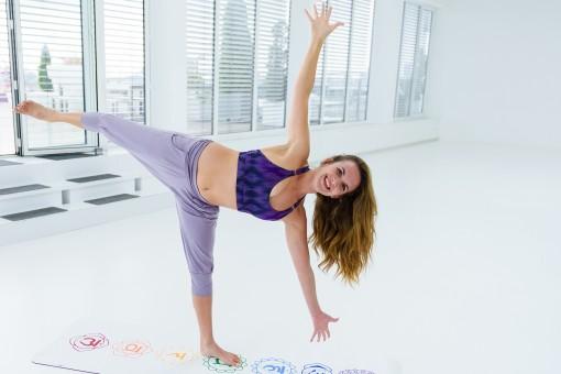 """Yoga-Bra """"Shiva"""" - Ikat purple"""