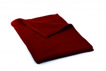 Manta de algodón (eco) bordeaux