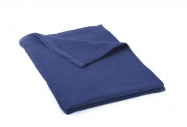 Manta de algodón (eco) dunkelblau