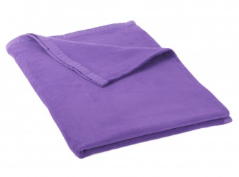 Cotton blanket (from controlled organic cultivation) lilac