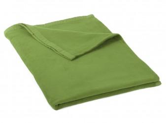 Manta de algodón (eco) grasgrün