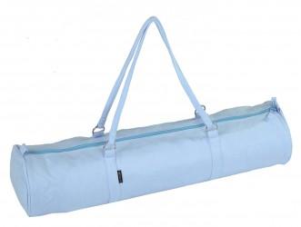 Yogatasche style - zip - velour - 69 cm blue