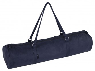 Yoga carrybag style - zip - velour - 69 cm dark blue