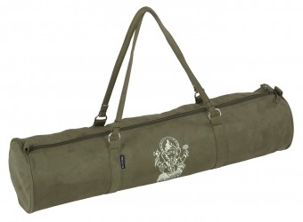 Yoga carrybag style - zip - velour - art collection - 69 cm olive - Ganesha
