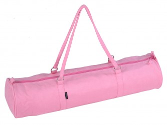 Yoga carrybag style - zip - velour - 69 cm rose