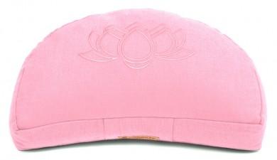 Zafu Darshan Neo, flor de loto media luna rosa