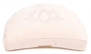 Meditationskissen Darshan Neo - Lotus - Halbmond weiß