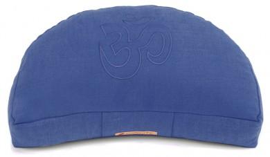 Meditationskissen Darshan Neo - OM - Halbmond blau