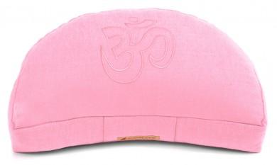 Meditationskissen Darshan Neo - OM - Halbmond rosa