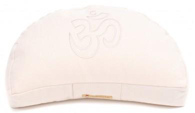 Meditationskissen Darshan Neo - OM - Halbmond weiß