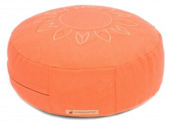 Meditationskissen Darshan Neo - Flower - Rund apricot
