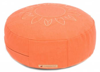 Meditation cushion 'Darshan Neo' - Flower, round apricot