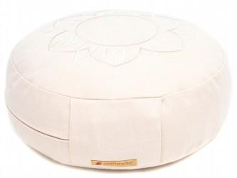 Meditation cushion 'Darshan Neo' - Flower, round white