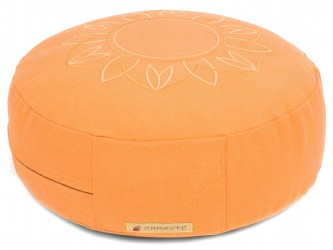 Meditationskissen Darshan Neo - Flower - Rund orange