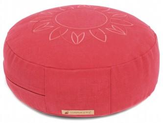 Meditation cushion 'Darshan Neo' - Flower, round red