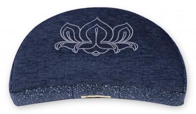 Meditation cushion 'Kabir', half moon blue