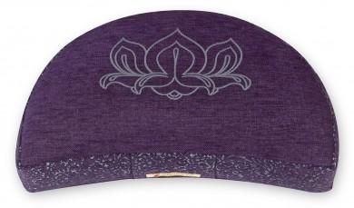 Meditation cushion 'Kabir', half moon violet