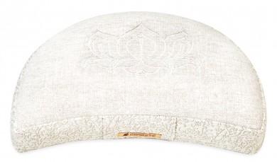 Meditation cushion 'Kabir', half moon white