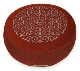 Meditation cushion 'Kabir', round red