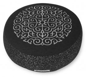Meditation cushion 'Kabir', round black