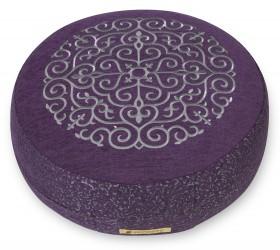 Meditation cushion 'Kabir', round violet