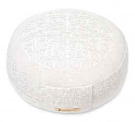 Meditation cushion 'Kabir', round white