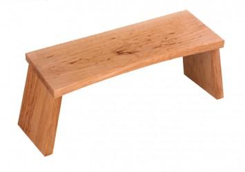 Meditation stool - alderwood nature static
