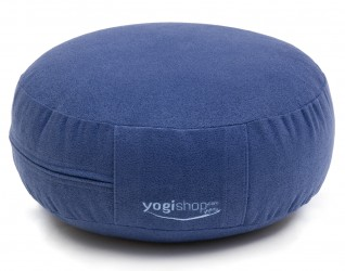 Meditation cushion 'BASICS', round blue