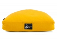 Meditation cushion - half moon yellow