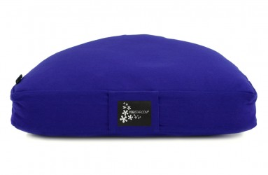 Meditation cushion - half moon royal blue