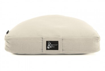 Meditation cushion - half moon natural white