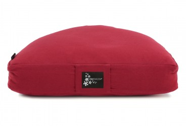 Meditation cushion - half moon red