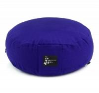 Meditation cushion - round royal blue