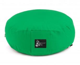 Meditation cushion - round spring green