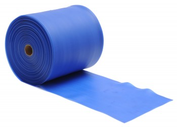 Pilates Stretchband - latexfrei - 25m Rolle Blau - Strong