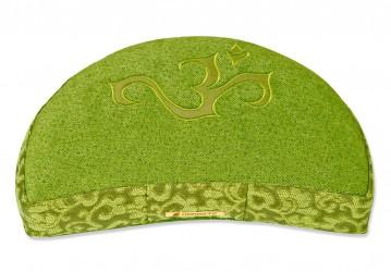 Meditation cushion 'Shakti' half moon, OM green