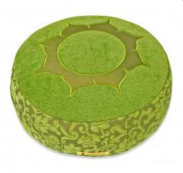 Meditationskissen Shakti, rund Lotus grün