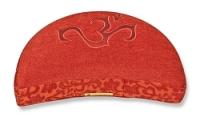 Meditation cushion 'Shakti' half moon, OM red