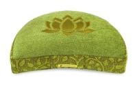 Meditation cushion 'Shakti' half moon, lotus green