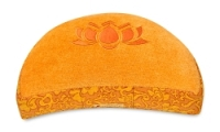 Meditationskissen Shakti - Lotus - Halbmond orange