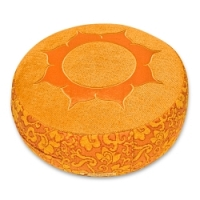 Meditationskissen Shakti, rund Lotus orange