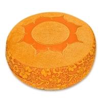 Zafu Shakti, redondo flor de loto orange