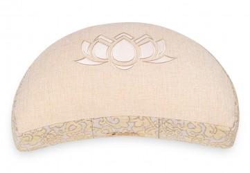Meditation cushion 'Shakti' half moon, lotus natural