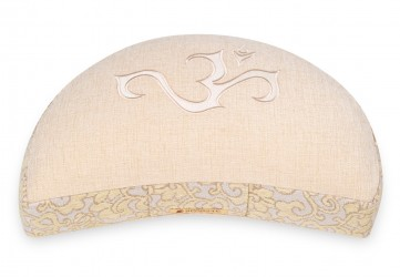 Meditationskissen Shakti - OM - Halbmond natur