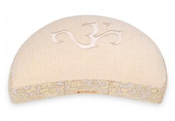 Meditation cushion 'Shakti' half moon, OM natural