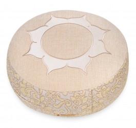 Meditation cushion 'Shakti' round lotus natural