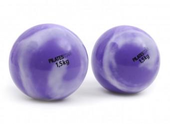 Pelota tonificadora 1,5 kg (violett, weiß)