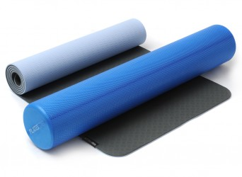Yin-Yoga Set anthrazite-brightblue