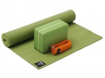 Yoga-Set kick it - one (Yogamatte + Yogablock + Yogagurt) kiwi