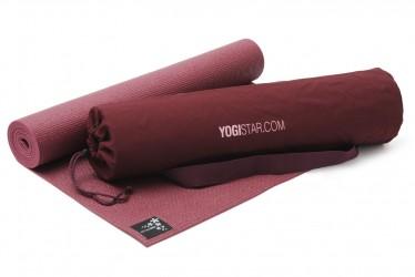 Yoga-Set Starter Edition (Yogamatte + Yogatasche) bordeaux